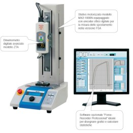 Dinamometri base IMADA con misuratore modello ZT e software