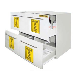 Chemisafe - Armadi di sicurezza per prodotti chimici altamente aggressivi Polisafe 4 O