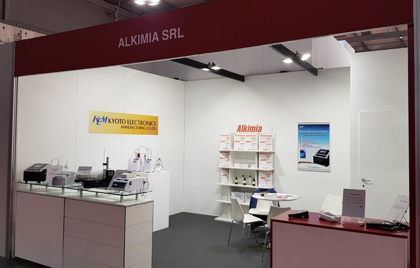 Lo stand di Alkimia Srl al SIMEI 2019